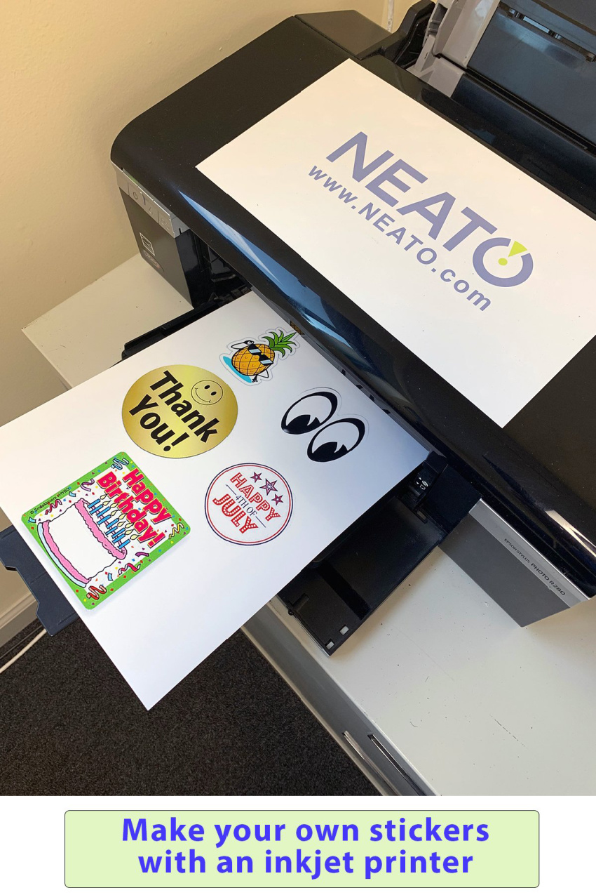 Make Custom Stickers, Labels, and More With Neato High Quality Sticker Vinyl