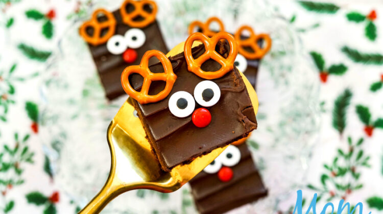 Cute and Easy Rudolf Brownies
