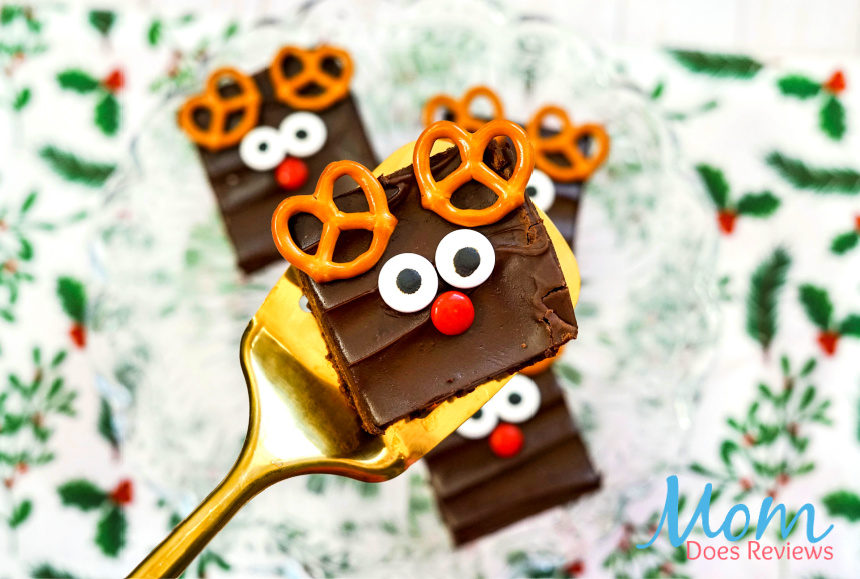 Cute and Easy Rudolf Brownies