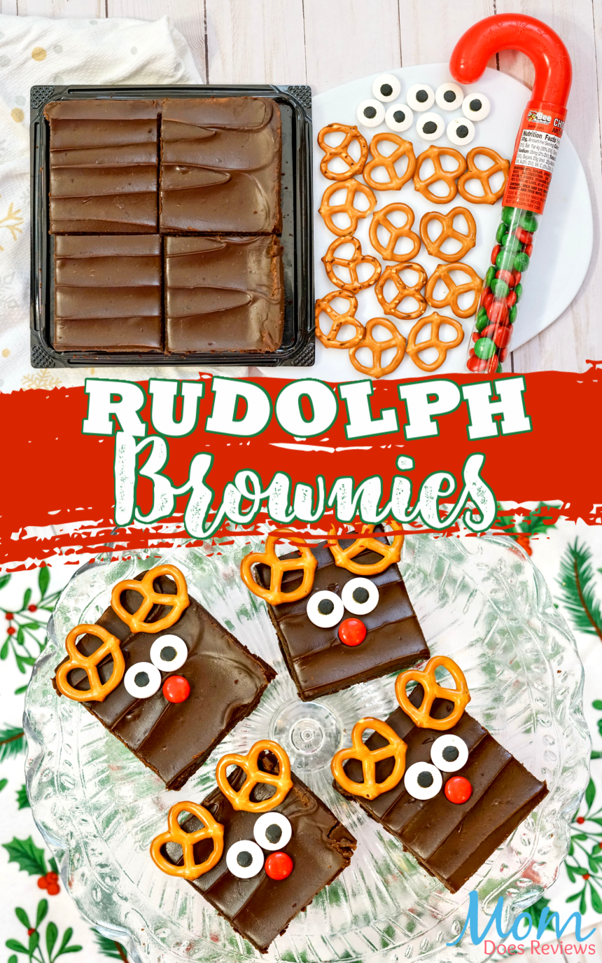 Cute and Easy Rudolph Brownie Treats #christmas