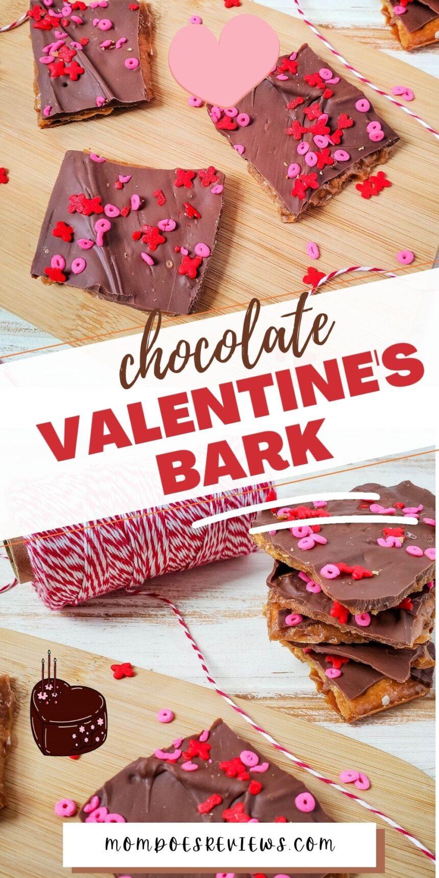 Easy Valentine's Chocolate Bark #sweets