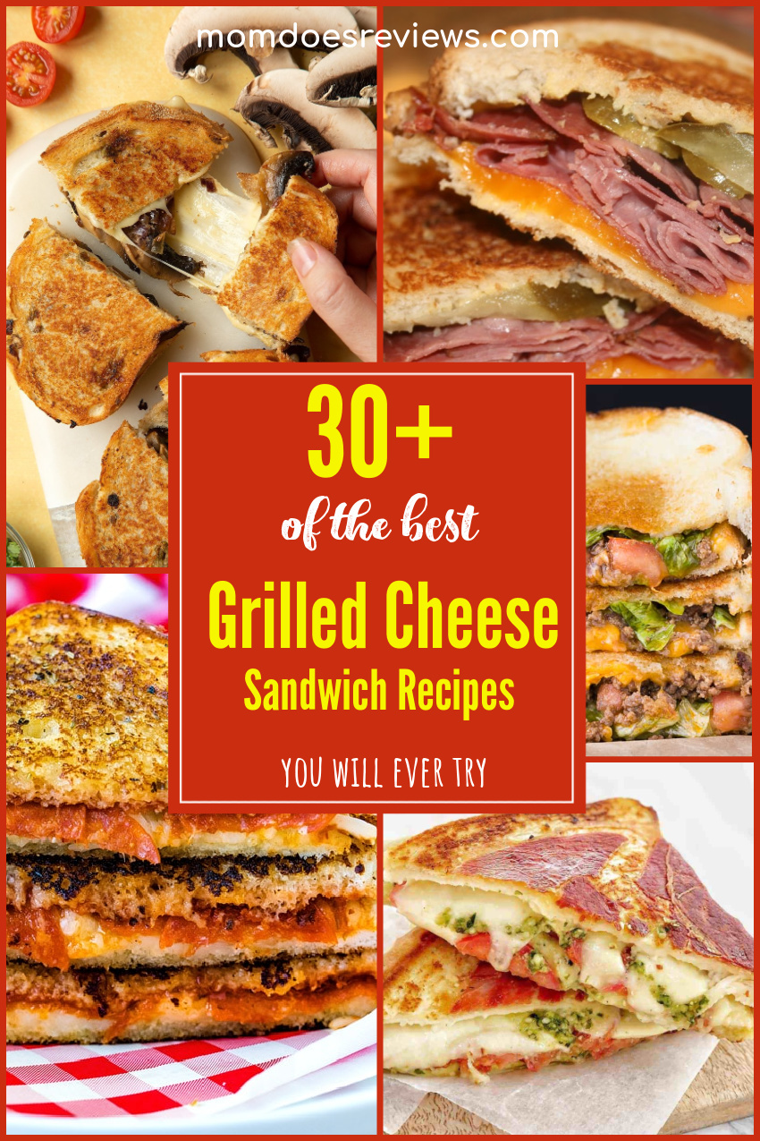30+ of the BEST Grilled Cheese Sandwich Recipes You Will Ever Try #grilledcheese #comfortfood #recipes