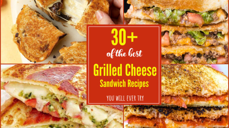 30+ of the BEST Grilled Cheese Sandwich Recipes You Will Ever Try