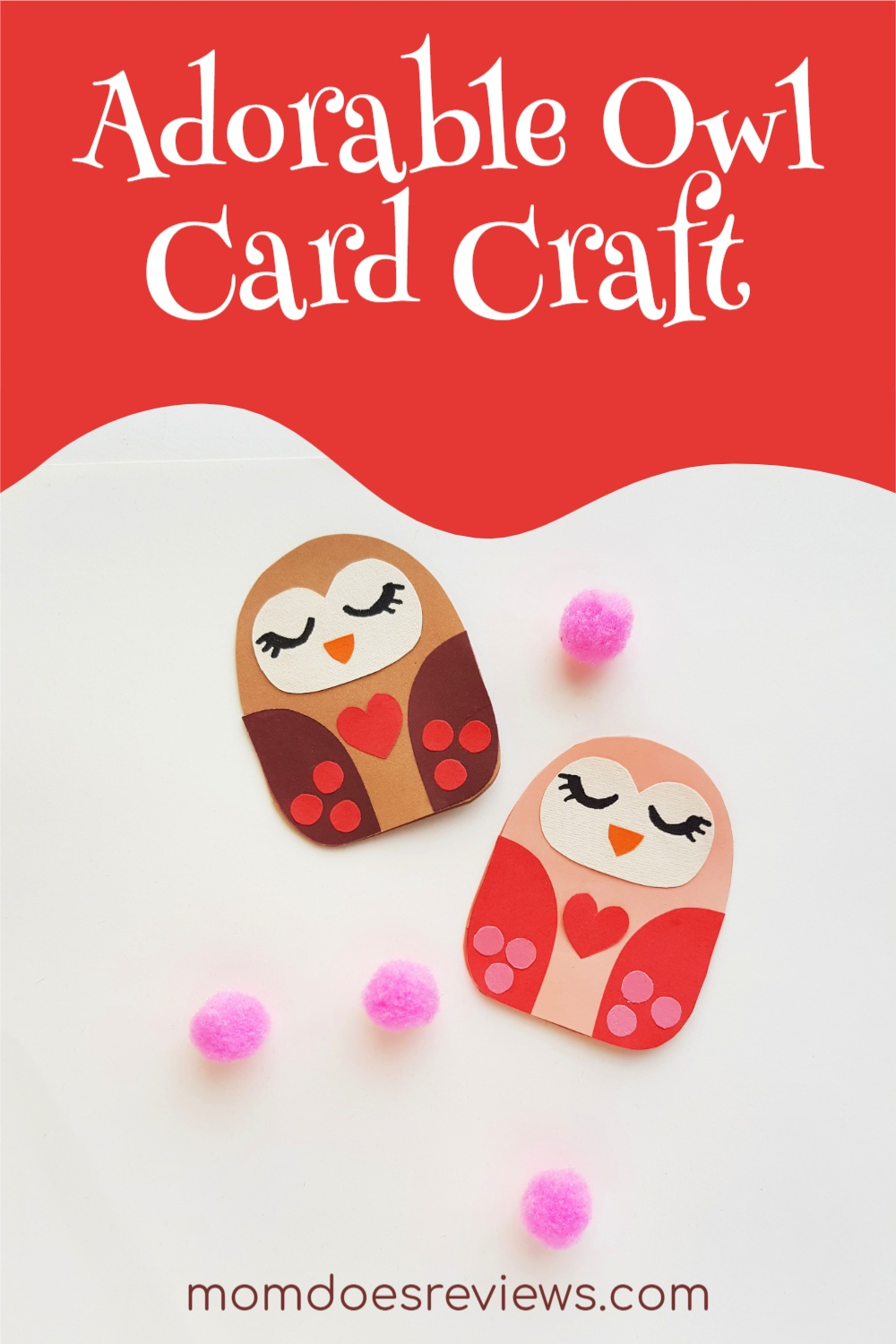 Adorable Owl Card Craft the Kids Will Love #craft #owlcraft #papercraft #valentinesday