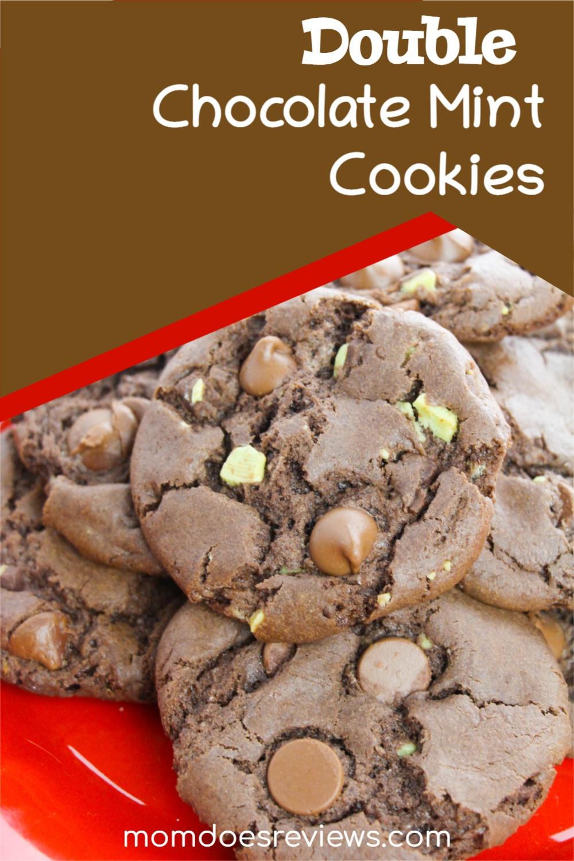 Double Chocolate Mint Cookies #Recipe #desserts #chocolatelovers #doublechocolate