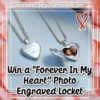 "#Win Forever In My Heart"" Photo Engraved Locket"