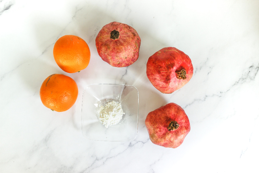 Instant Pot Orange Pomegranate Jam ingredients needed