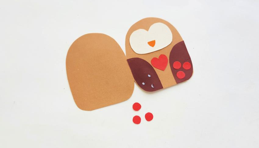 Owl Card Craft process