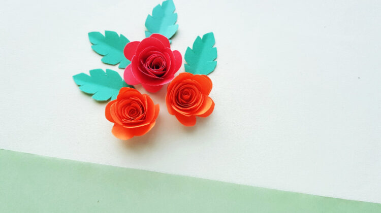 Easy Paper Rose Craft for Kids