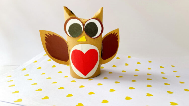 Toilet Paper Roll Owl Craft for Kids