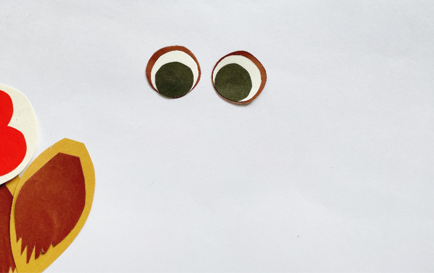 Toilet Paper Roll Owl Craft process
