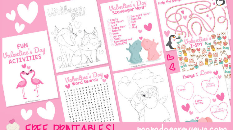 Pretty & Printable Valentine's Day Activities for Kids!