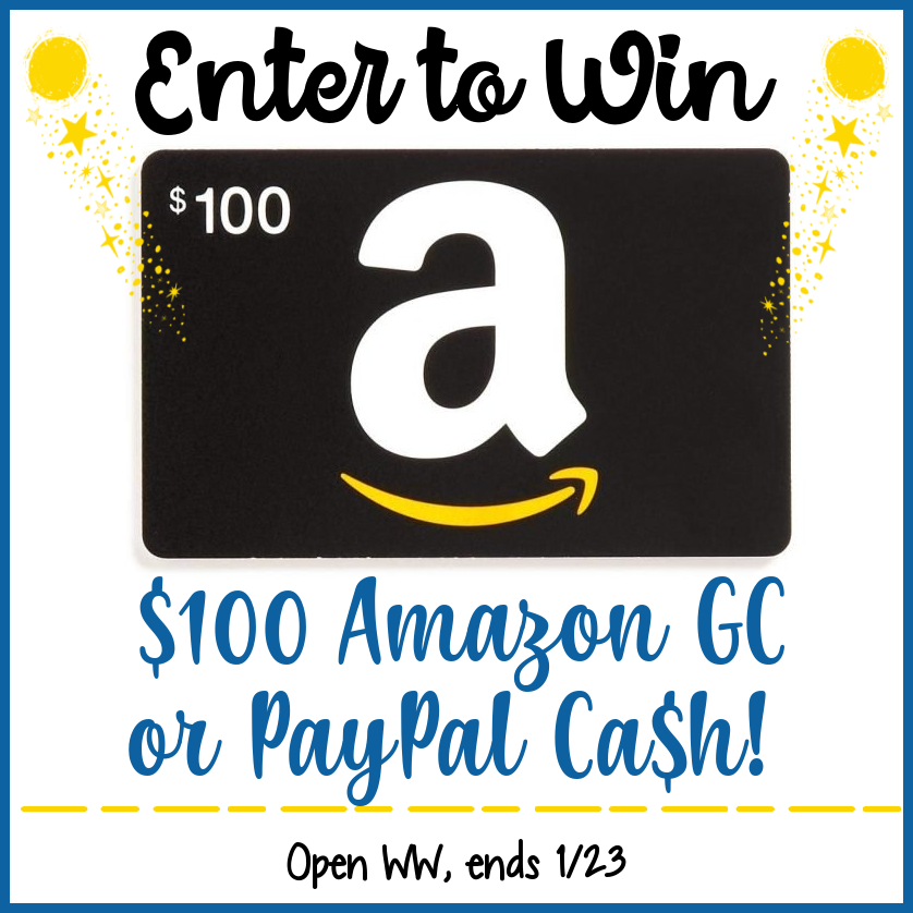 #Win $100 Amazon GC or PayPal Cash!