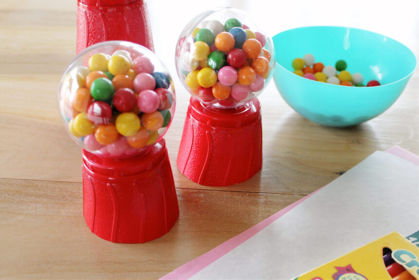 DIY Valentine's Day Mini Gum Ball Machine