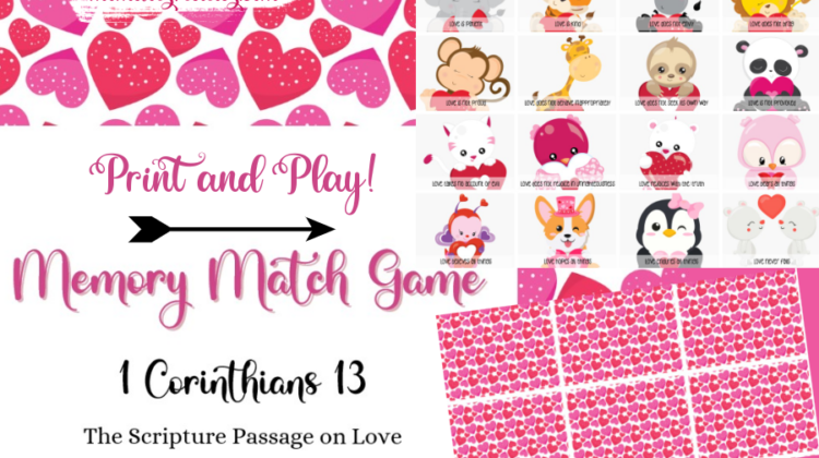 Love Memory Match Game - Print them Today!