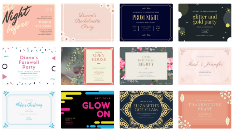 Create Custom Invitations with These Free Online Invitation Makers