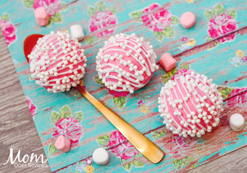 Pink Heart Pearl Hot Chocolate Bombs- Sweet Valentine's Treat!