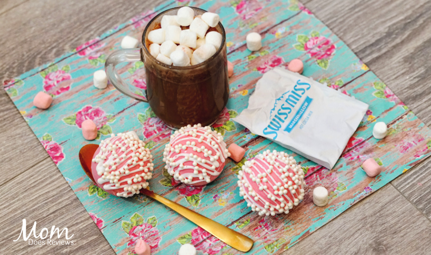 Pink Heart Pearl Hot Chocolate Bombs