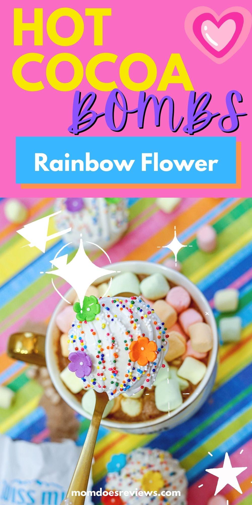 Rainbow Flowers Hot Chocolate Bombs