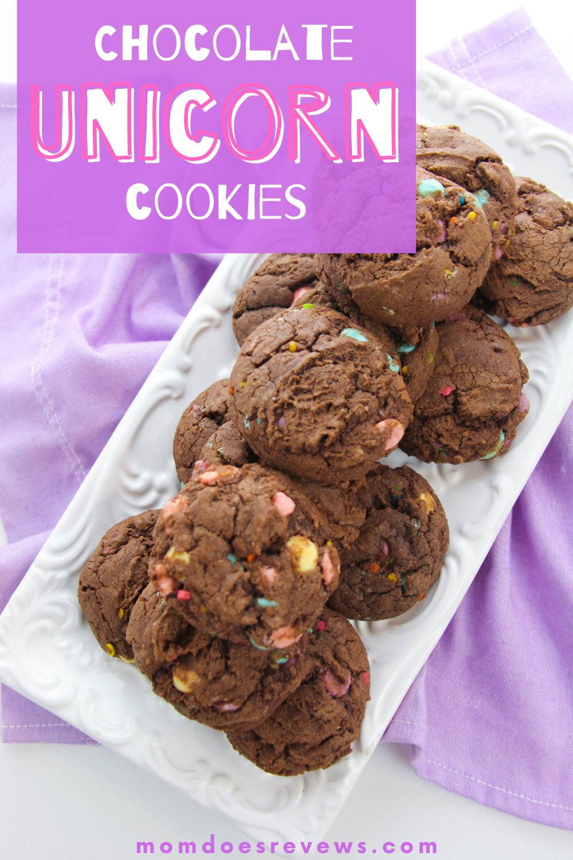 Chocolate Unicorn Cookies #recipe