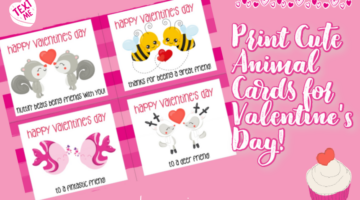 Animal Valentine's Day Cards for Kids