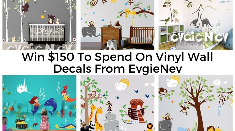 #Win a$150 credit to EvgieNev Wall Decals.