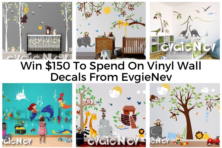#Win a $150 credit to EvgieNev Wall Decals.