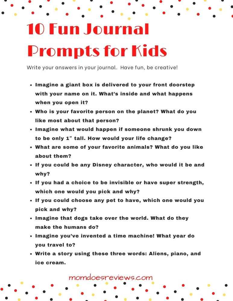 Journal Prompts for Kids