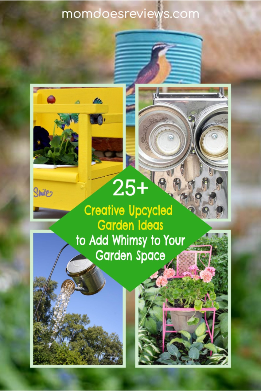 25+ Creative Upcycled Garden Ideas to Add Whimsy to Your Garden Space #gardening #upcycled #DIY