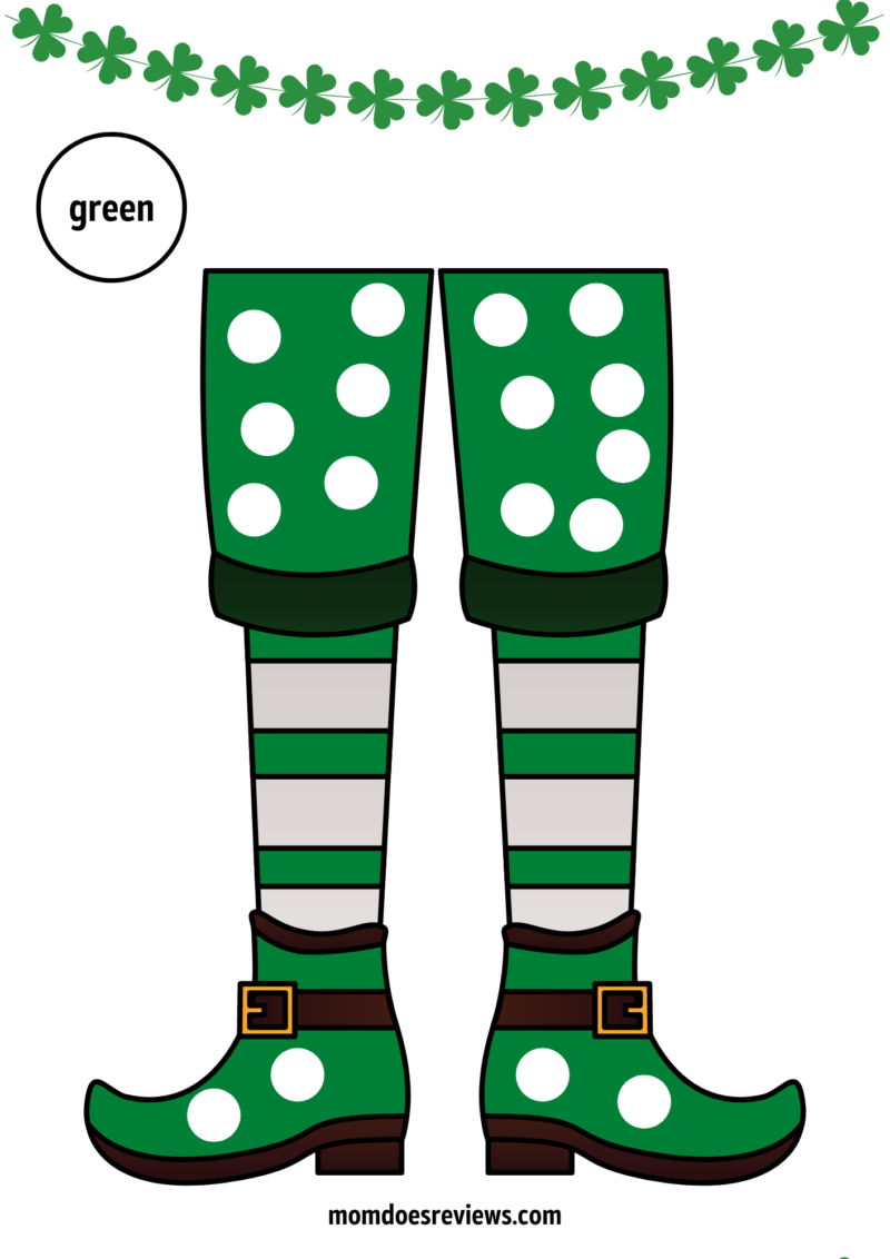 Printable St. Patrick's Day Q-Tip Painting #freeprintables #stpatricksday #qtippainting