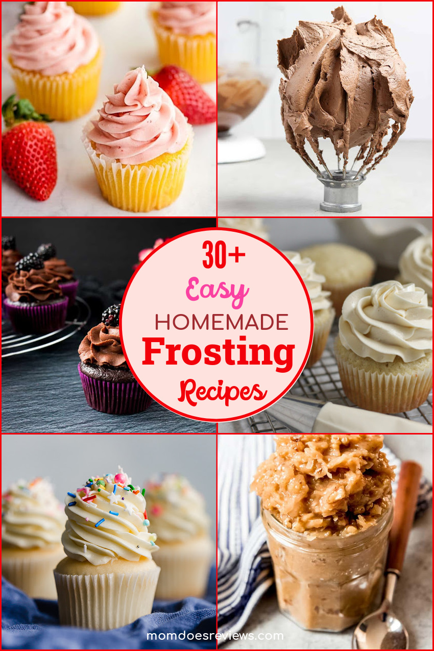 30+ Easy Homemade Frosting Recipes that Will Delight Your Taste Buds #recipes #cupcakedecorating #homemadefrosting