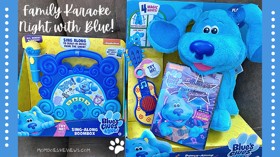Blue's Clues & You! Blue's Sing-Along Spectacular family karaoke night kit