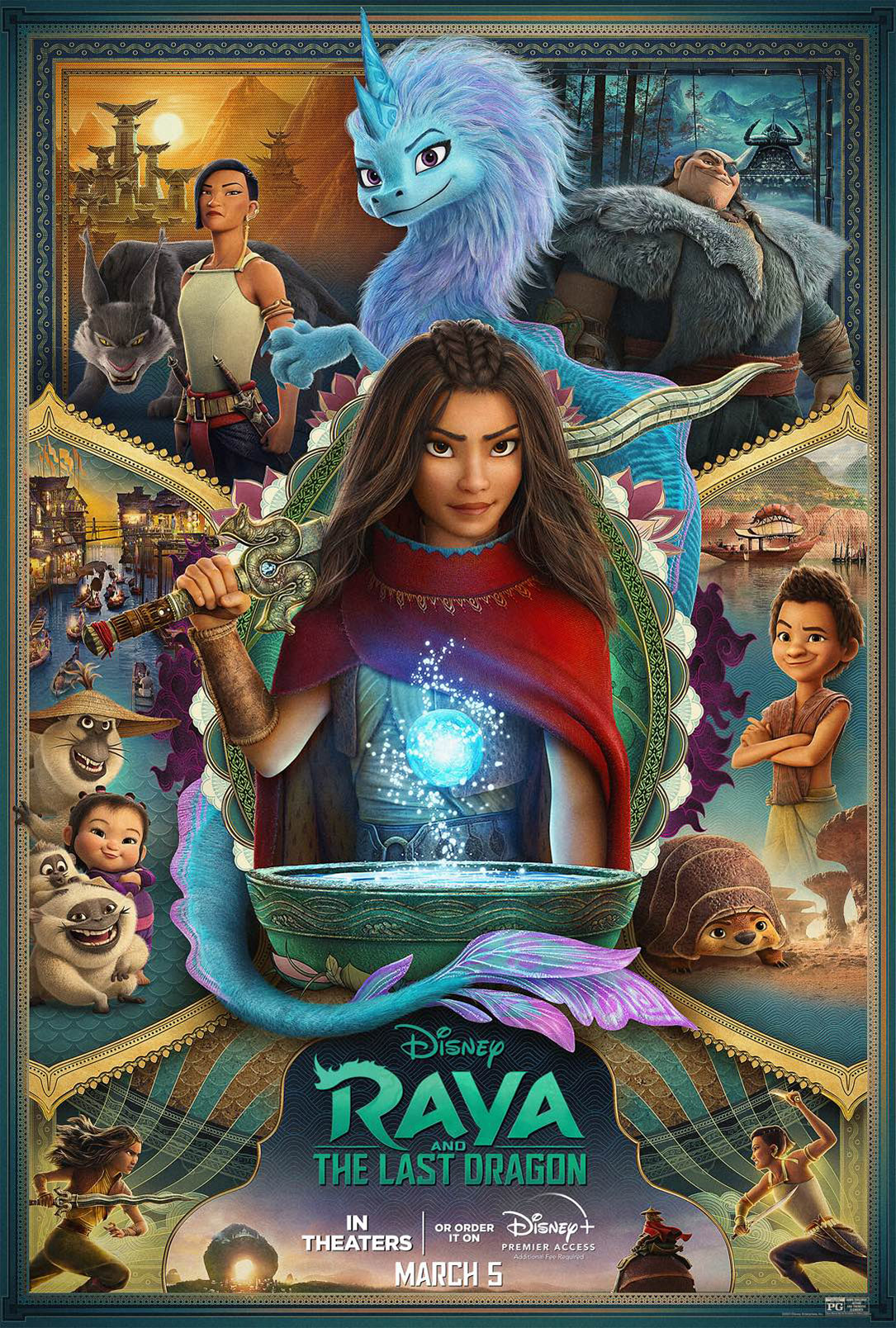 """""""Raya and the Last Dragon"""" in Select Theaters & on Disney+ March 5th #DisneyRaya"""