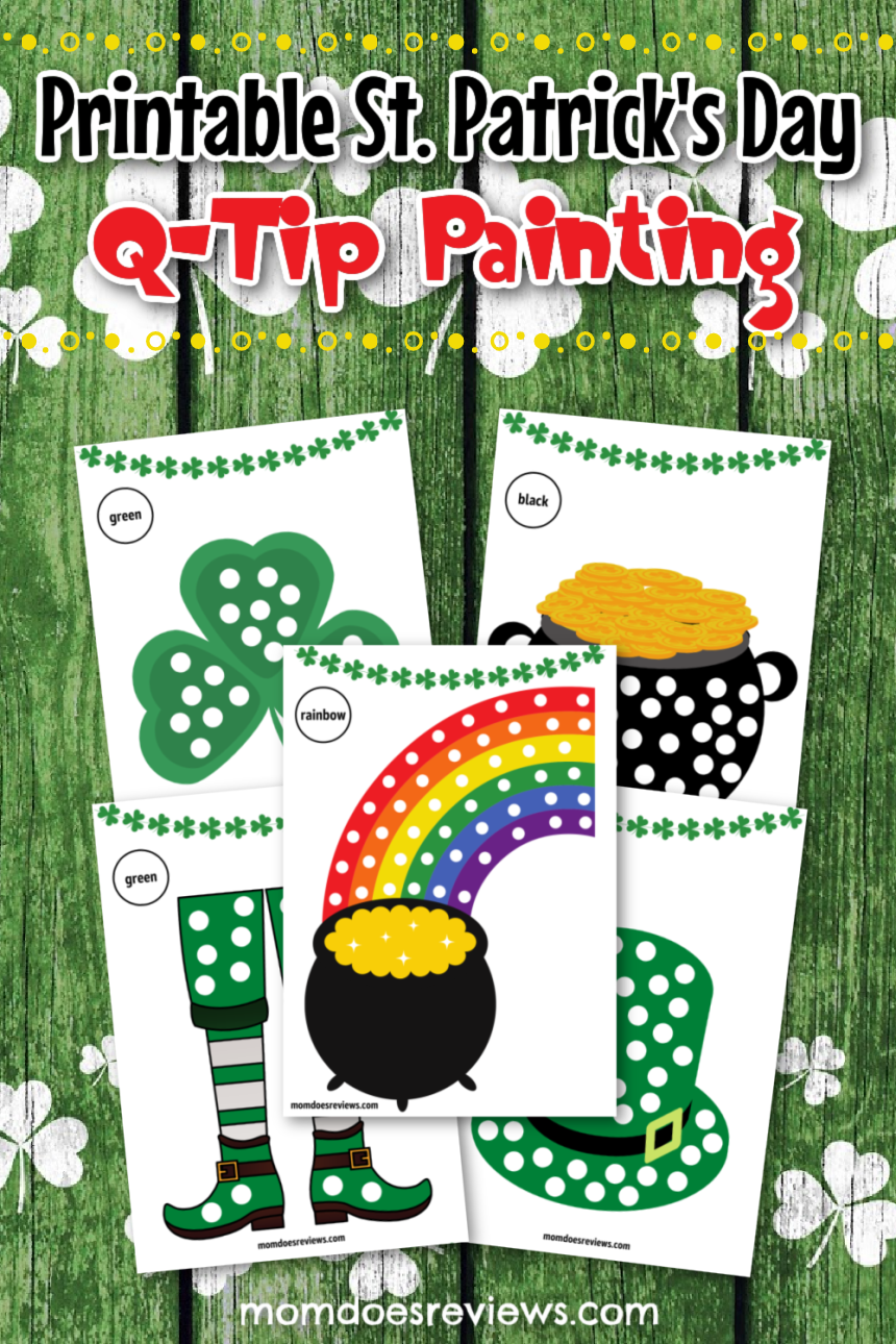 Printable St. Patrick's Day Q-Tip Painting