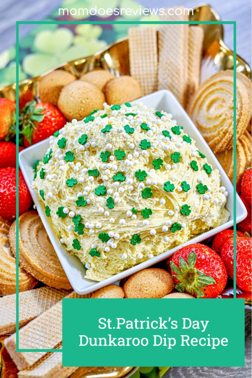 St. Patrick's Day Dunkaroo Dip #Recipe #funfood #sweettreats