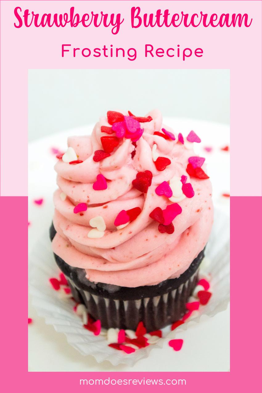 Strawberry Buttercream Frosting #Recipe #homemadefrosting #desserts
