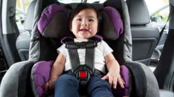 car seat with baby
