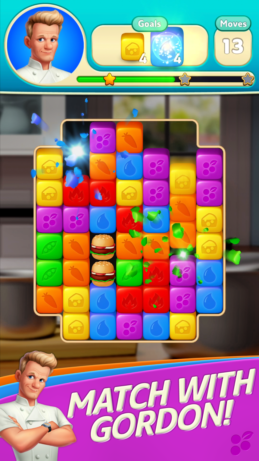 match-two puzzle game Gordon Ramsay's