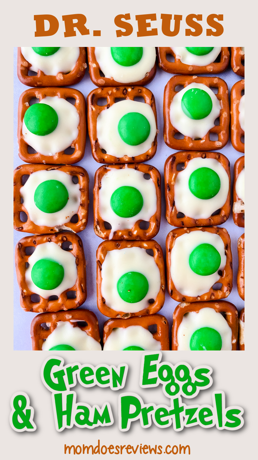 Dr. Seuss Green Eggs and Ham -Fun Chocolate Covered Pretzels