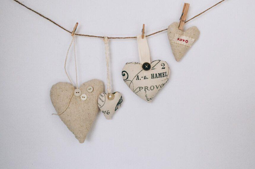 burlap hearts