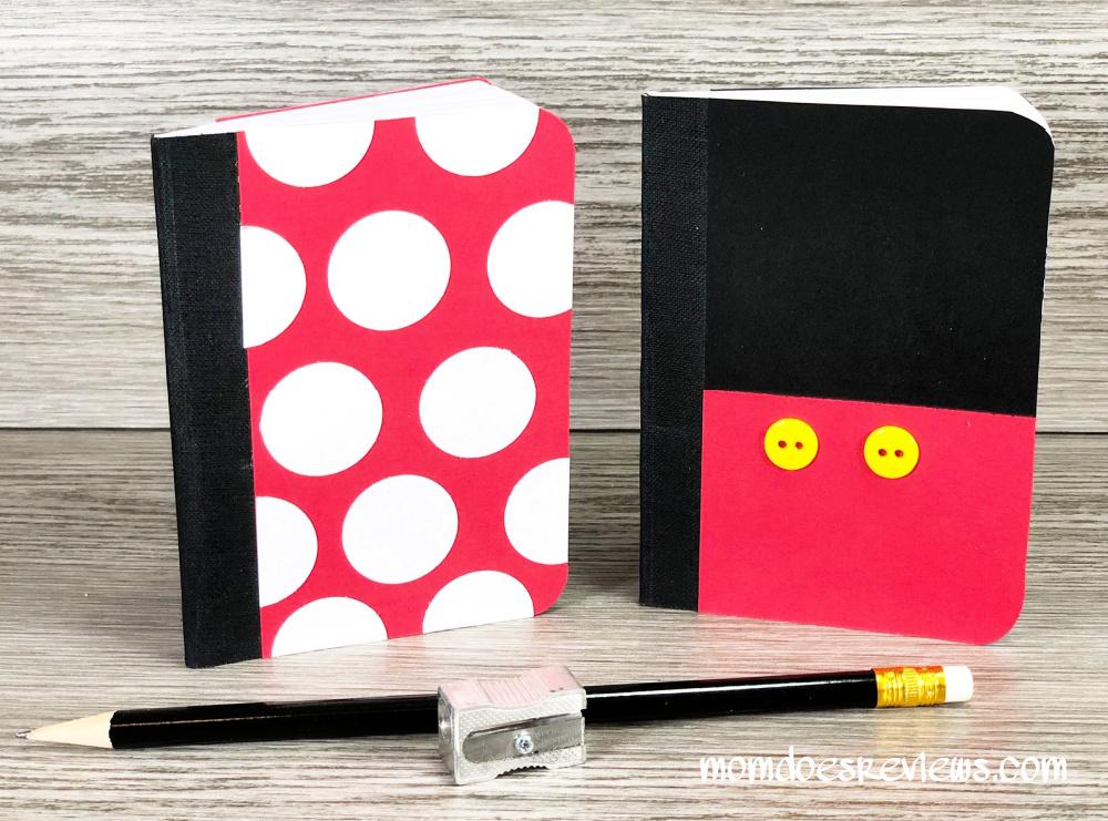 DIY Minnie and Mickey notebooks