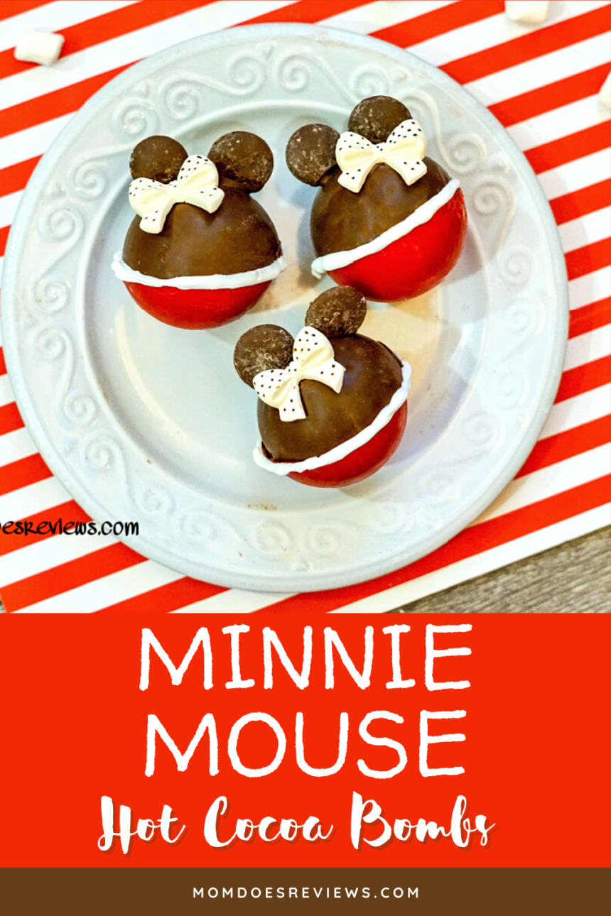 Minnie Mouse Hot Chocolate Bombs #funfood #disney #minniemouse #hotcocoa