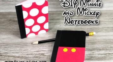 DIY Minnie and Mickey notebooks #dollarstorecraft #easycraft #disney