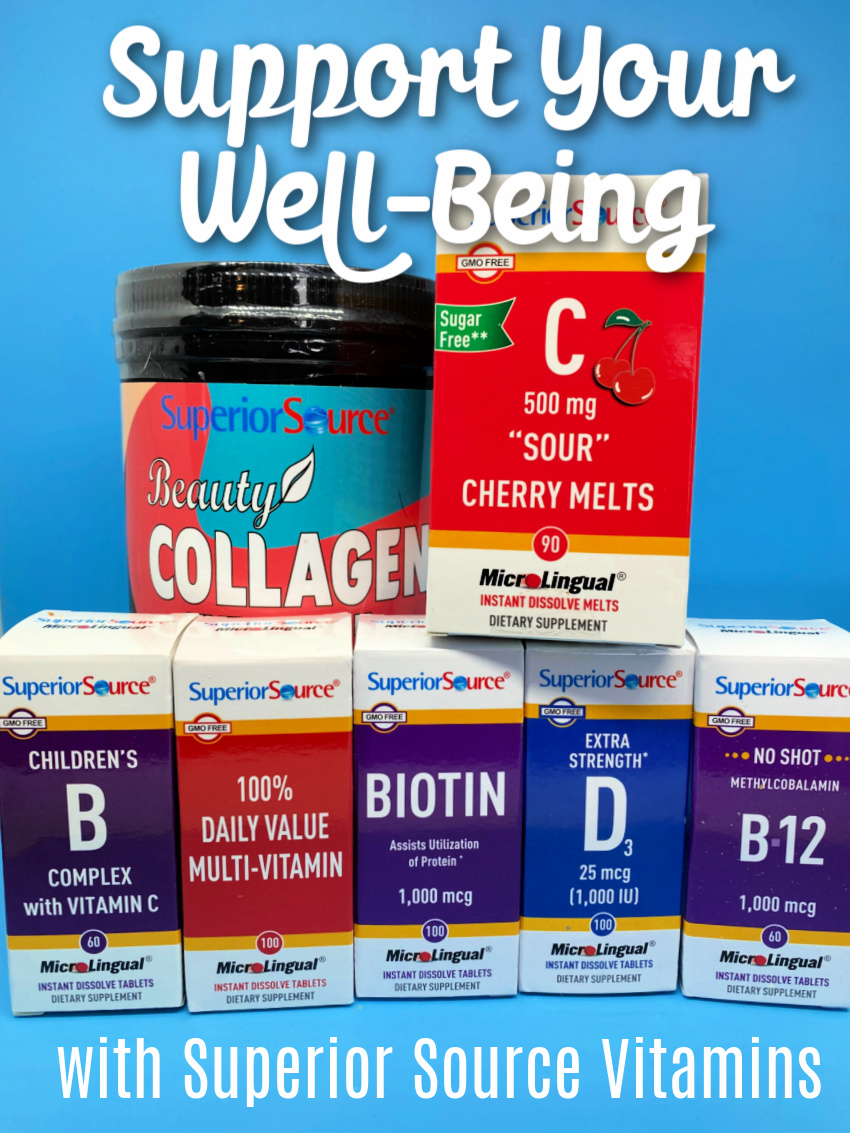 Help Support Your Well-Being – Naturally with Superior Source Vitamins! & #Giveaway