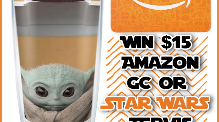 #Win $15 Amazon GC or a Tervis Star Wars Tumbler! Part of the #LadyLuck Giveaway Hop!