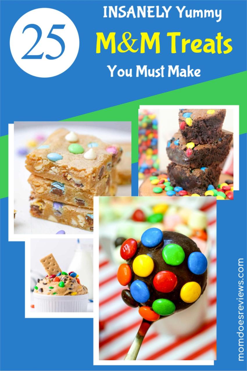 25 Insanely Yummy M&M Treats You Must Make #recipes #sweets #treats #chocolate