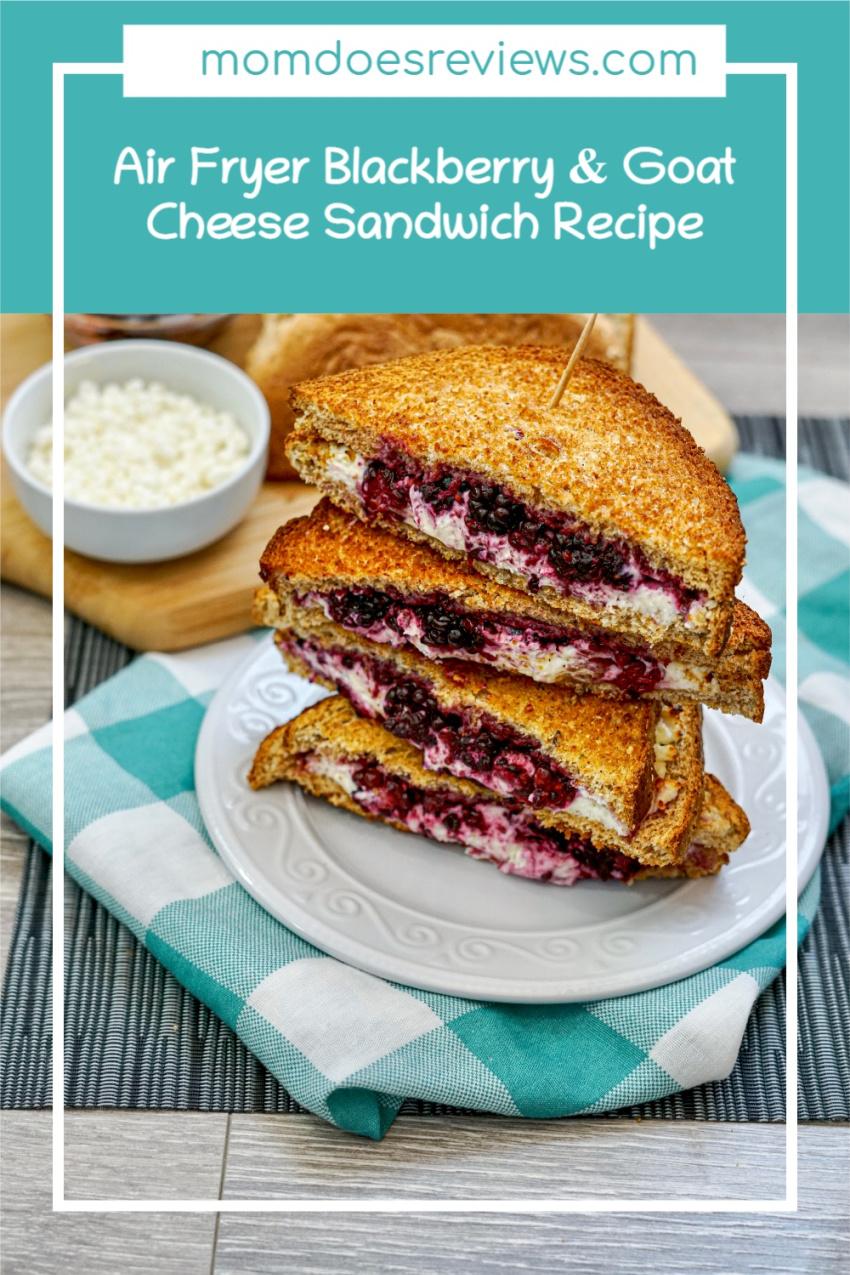 Air Fryer Blackberry & Goat Cheese Sandwich #Recipe #grilledcheese #foodie #airfryerrecipe