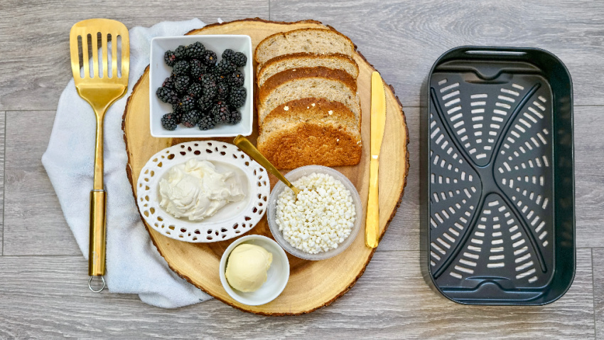 Air Fryer Blackberry & Goat Cheese Sandwich ingredients needed