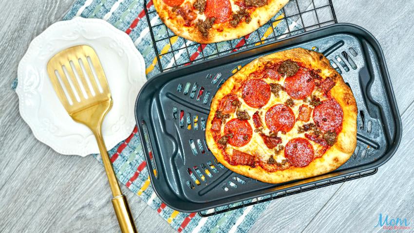 Easy Air Fryer Meat Lovers Flat Bread Pizza Recipe
