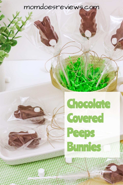 Chocolate Covered Peeps Bunnies #EasterTreats #peepstreats #funfood